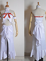 Inspired by Sword Art Online Asuna Yuuki Anime Cosplay Costumes Cosplay Suits Patchwork White Sleeveless Top / Dress / Armlet