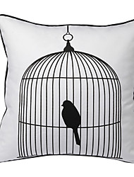 Bird in Cage Decorative Pillow Cover
