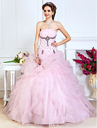 TS Couture® Prom / Formal Evening / Quinceanera / Sweet 16 Dress - Blushing Pink Plus Sizes / Petite A-line / Princess / Ball Gown Strapless