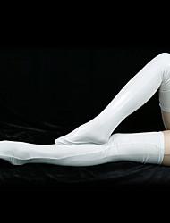 Socks/Stockings Ninja Zentai Cosplay Costumes White Solid Stockings Spandex Unisex Halloween / Christmas