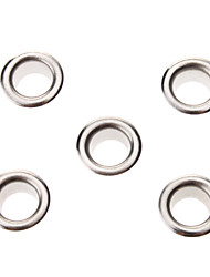 8 milímetros Redonda Ilhós Silver Metal Rivet (Conter 100 Pics)