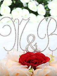 Carta e Número / Jóias de Bolos (de Cromado , Prata ) - Casamento / Aniversário - Monograma