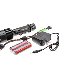 UniqueFire T04 5-Mode do Cree T6 XM-L LED Set lanterna recarregável (10w, 1000LM, 1x18650)