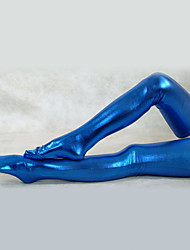 Blu Metallic Shiny Stockings (2 Pezzi)