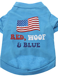 American Flag Pattern T-Shirt für Hunde (Farbe sortiert, XS-L)