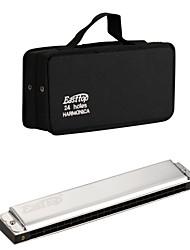 EASSTTOP - (T24-8) 24 Harmonica Tremolo Buracos com Bag Soft (2 Keys-Pack)