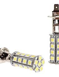 H1 5W 30x5050 SMD White LED Bulb for Car Headlight Fog Light (12V, 2-Pack)