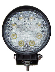 24W Round 8 luz de trabalho LED