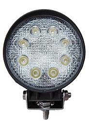 24W luz de trabajo redonda 8 LED