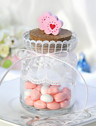 Cute Candy Jar With Little Flowers (Set of 6)