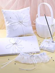 """""""O sonho de conto de fadas"""" coleção do casamento definir em cetim branco (5 peças)"""