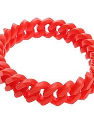 Z&X®  Single Candy Color Silicon Rubber Chain Bracelet