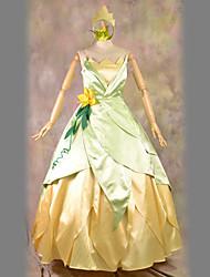 Costumes de Cosplay Costume de Soirée Princesse Fête / Célébration Déguisement d'Halloween Jaune Rétro Robe Casque Halloween Carnaval