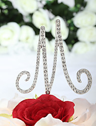 """Cake Toppers """"M"""" For """"Marriage"""" Rhinestone Cake Topper"""