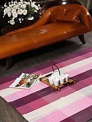 ELAINE Bay Window Carpet Patterned with Plaid (60*180cm,Purple)
