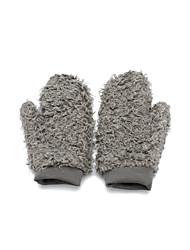 Wrist Length Fingerless Glove Feather/ Fur Winter Gloves/Party/ Evening Gloves