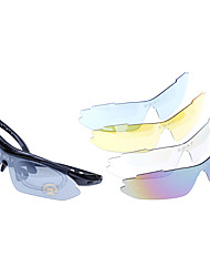 Anti-UV Outdoor Sports Cycling Eye Protection Glasses Goggles with Extra Lens