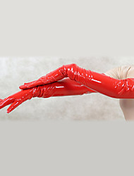 Gloves Ninja Zentai Cosplay Costumes Red Solid Gloves PVC Unisex Halloween Christmas