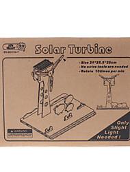 DIY Solar Power Self Energy Assembléia Kit Moinho de madeira Whirligig