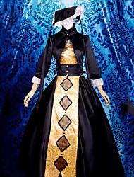 Гостиница The Dark хозяйки 3/4-length рукавом длиной до пола, Готическая Лолита платье