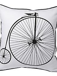vindima bicicleta impressão fronha decorativo