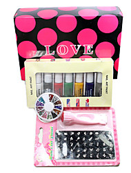 Nail Art Print DIY Kit d'impression couleur de timbre polonais Machine Combination un ensemble (L)