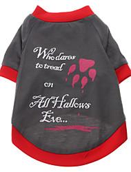 Peligrosas impresión de la pata Patrón Camiseta para perros (color surtidos, S-XXL)