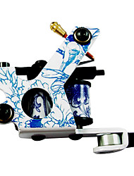 Classic Blue and White Porcelain Tattoo Machine Gun For Lining and Shading