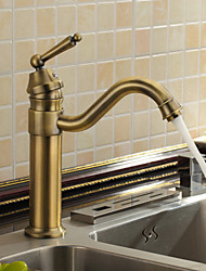 Antique Inspired Kitchen Faucet (Antique Brass Finish)