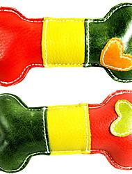 Perros Juguetes Juguete Mordedor / Juguetes Crujientes Hueso Piel Genuina Multicolor