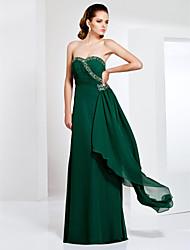 Formal Evening / Military Ball Dress - Plus Size / Petite Sheath/Column Strapless / Sweetheart Floor-length Chiffon
