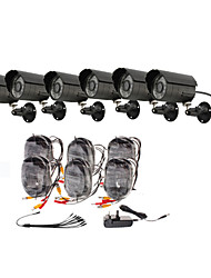 Day/Night Security Camera 6 Pack(6 Waterproof Outdoor Cameras)