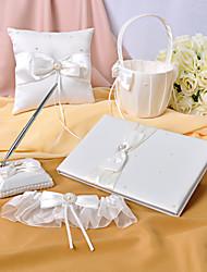 слоновая кость атласные свадебные коллекции установить с искусственной акценты звон (5 штук)