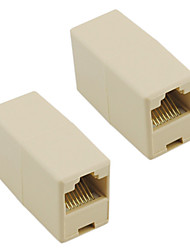 RJ45 8-Pin Female to Female kaapeli Extender liitin (Pair)