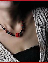 Damen: altmodische Woven Halskette