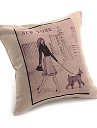 Casual City Life Decorative Pillow Cover