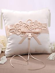 Cetim Elegent Pillow anel de casamento com nó chinês