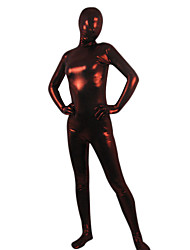 Wine Red Shiny Metallic Ganzkörper Zentai