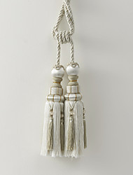 Classic Rayon White Tassel (One Pair)