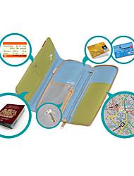 Lungo Moderno Tipo Passport Card Case in poliestere per il viaggio (colori assortiti)