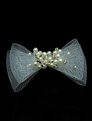 Women's Pearl Tulle Headpiece-Wedding Special Occasion Casual Hair Pin