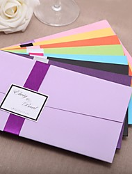 Personalized Wedding Invitation With Ribbon - Set of 20(More Colors)
