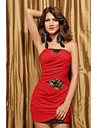 sexy bandeau vestido de renda multi-color das mulheres (comprimento: busto 68 centímetros :86-102 centímetros da cintura :58-79 :90-quadril 104cm)