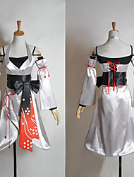 Inspired by Vocaloid Meiko Video Game Cosplay Costumes Cosplay Suits / Kimono Patchwork White SleevelessDress / Sleeves / Corset / Belt /