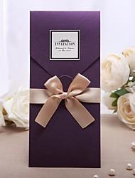 Envuelve y Guarda Invitaciones De Boda 20-Tarjetas de invitación Estilo clásico Papel de Perla 22 x 12cm Lazo