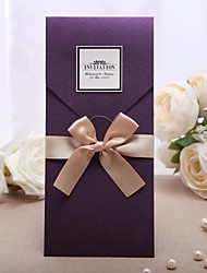 "Personalizado Embrulhado e de Bolso Convites de casamento Cartões de convite-20 Peça/Conjunto Estilo Clássico Papel Pérola8 ½""×4 ½"""