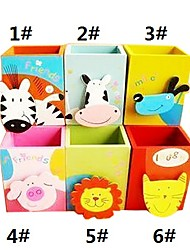 animaux design cartoon crayon porte en bois (couleurs assorties)