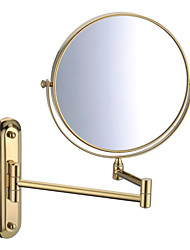 """Ti-PVD Acabado de 180 grados giratoria de montaje en pared de 360 grados giratoria 8 """"espejo de Oro"""
