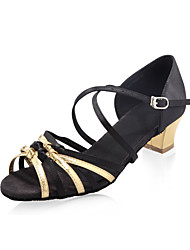 satinado superior las mujeres / niños, zapatos de baile de salón latino zapatos
