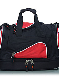 Mazone Large Size Rot und Schwarz Oxford Fabric Sports Bag (60 * 27 * 40cm)